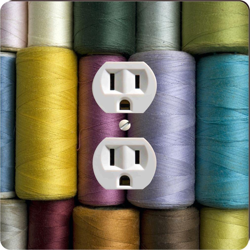 Rikki Knight 9213 Outlet Vintage Sewing Thread Design Outlet Plate