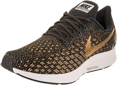 Nike Wmns Air Zoom Pegasus 35, Zapatillas de Trail Running para Mujer, Multicolor (Black/Metallic Gold/Wheat Gold 7), 44.5 EU: Amazon.es: Zapatos y complementos