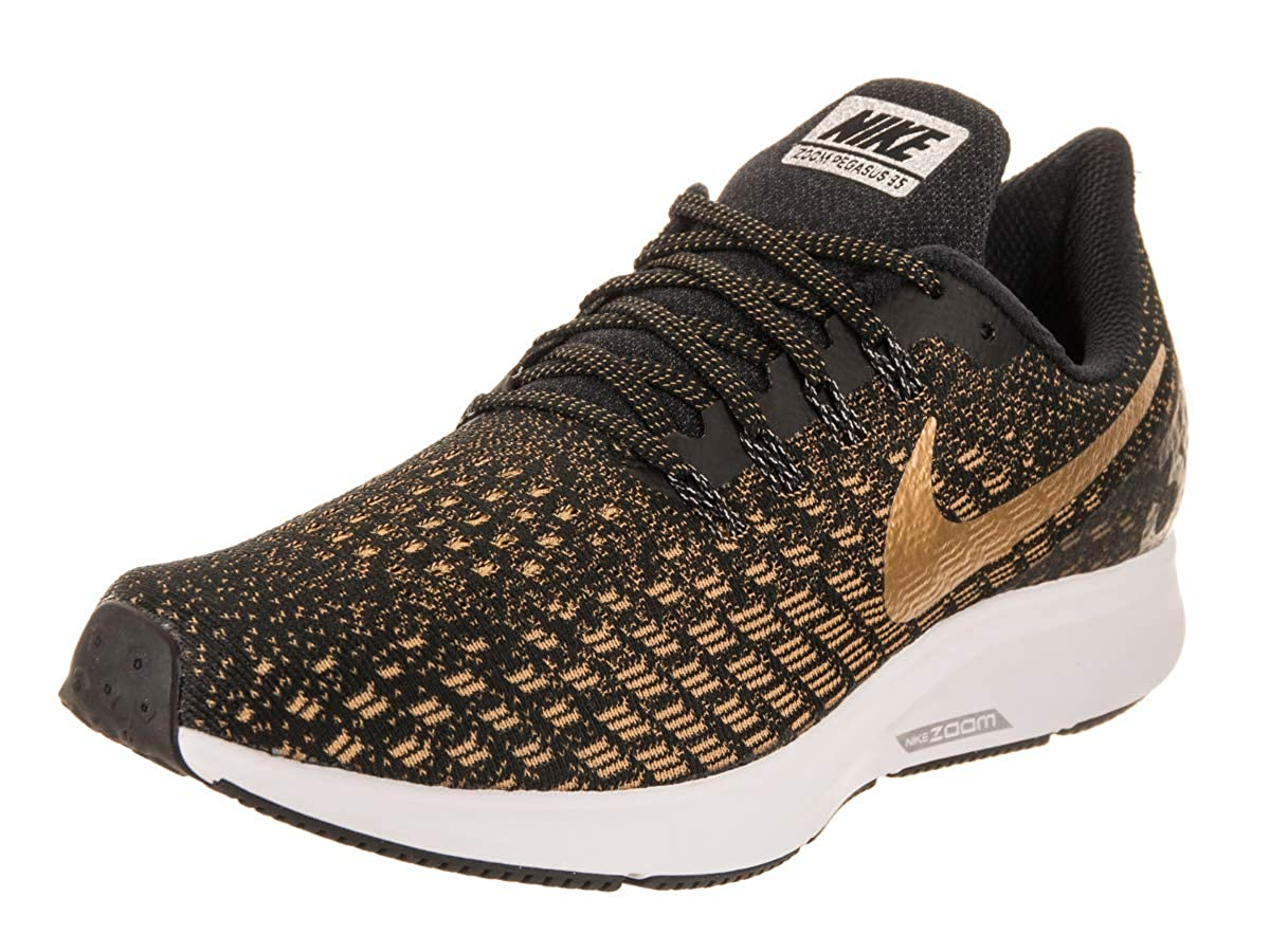 Black Metallic gold Wheat gold Nike Women's Air Zoom Pegasus 35 Running shoes