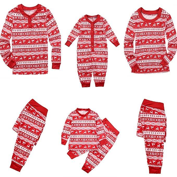 Keephen Familia Navidad Familia Ropa Dormir Conjunto Pijamas Juego Bebé Recién Nacido Mameluco Niños Mamá Papá Conjunto Pijamas: Amazon.es: Ropa y ...