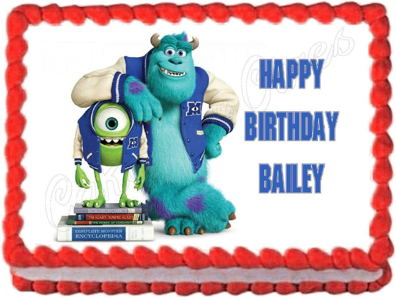 Pleasing Amazon Com Monsters Inc Monsters University Edible Cake Image Personalised Birthday Cards Epsylily Jamesorg