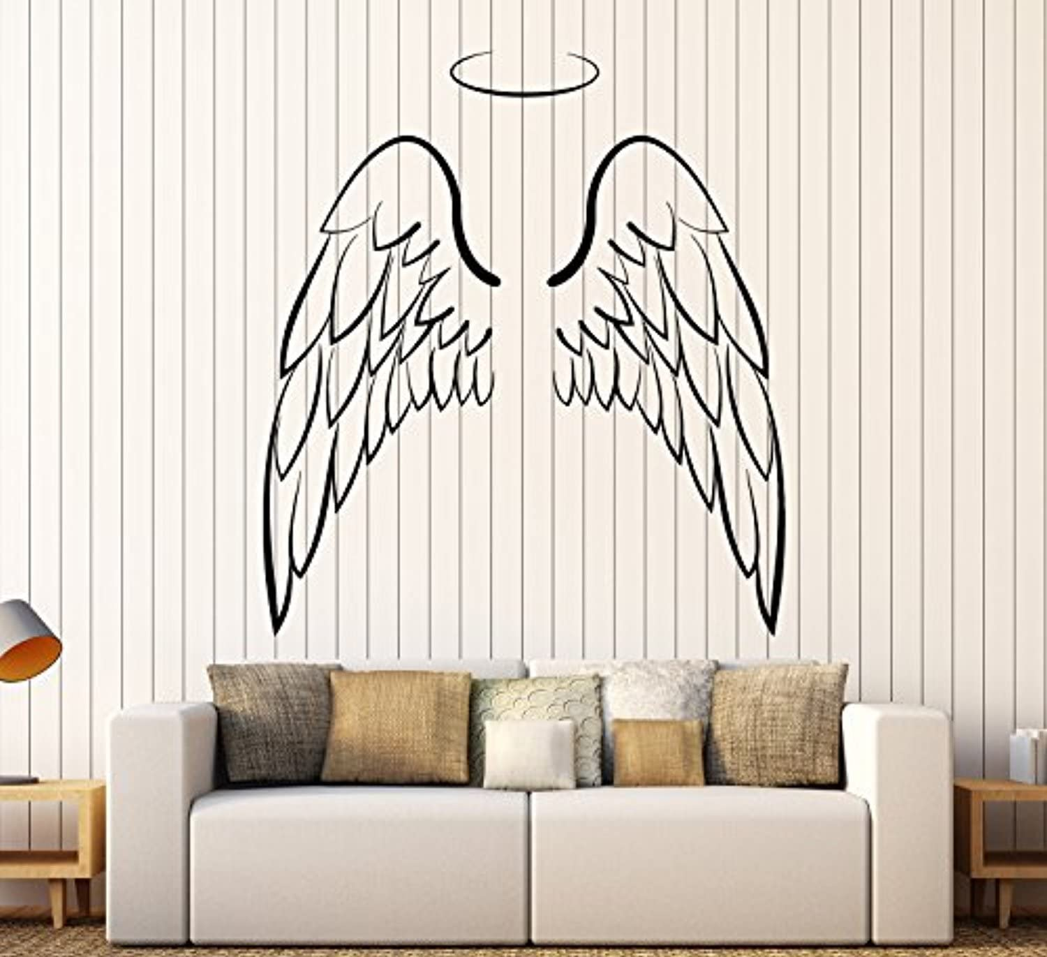 Amazon Com Amazing Home Decor Large Vinyl Wall Decal Angel Wings Bedroom Decoration Stickers Made In The Usa Removable Home Kitchen