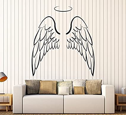 Amazon Com Amazing Home Decor Large Vinyl Wall Decal Angel Wings
