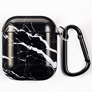 Simple Plus+ Case for AirPods, Protective Dustproof Soft TPU AirPods Case Cover, Shockproof and Waterproof Case Cover with Keychain, Compatible with Apple AirPod 2 and 1, Front LED Visible (AP-DLS3H)
