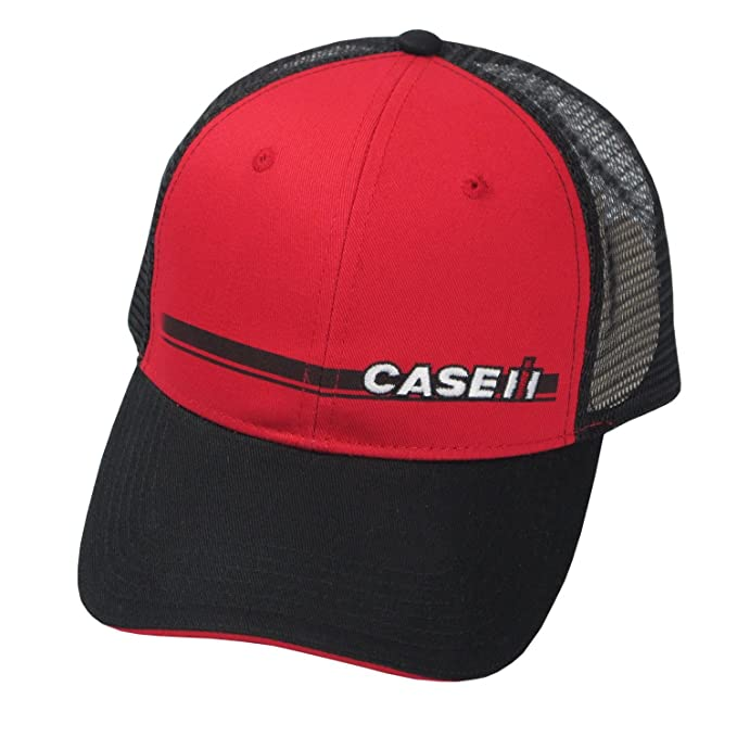 0b682e24408a9 Image Unavailable. Image not available for. Color  Case IH Black and Red  Trucker Mesh Hat