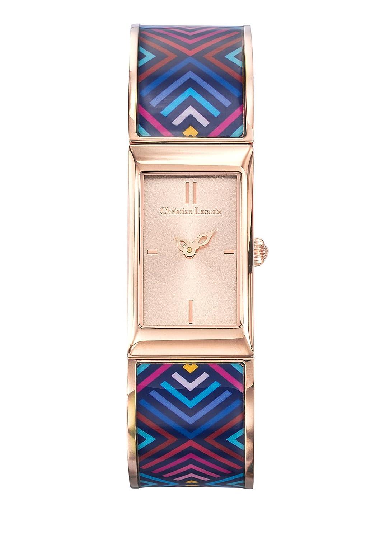 Zeigt Damen – Christian Lacroix – unglaubliche Armband Stahl PVD rosÉ lackiert bedruckt – 8010210