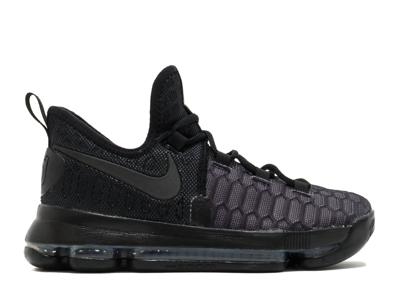 NIKE Kid's KD9 (GS) Basketball Shoe (Black/Black-Anthracite, 6.5Y) by NIKE