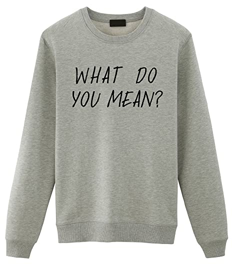 3cbcbc20a924 Fellow Friends Women's What Do You Mean? Sweater at Amazon Women's Clothing  store: