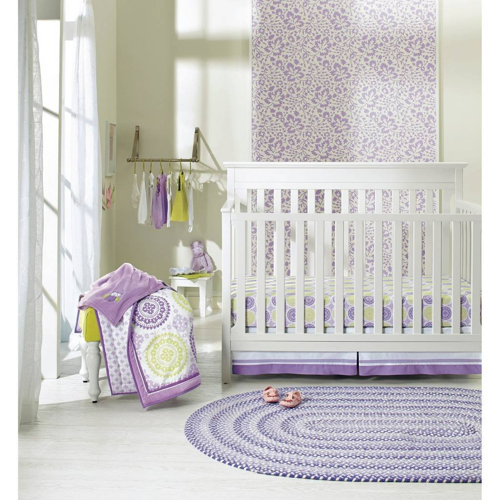 Amazoncom Circo Pc Crib Bedding Set Purple Medallion Baby - Circo comic bedding set