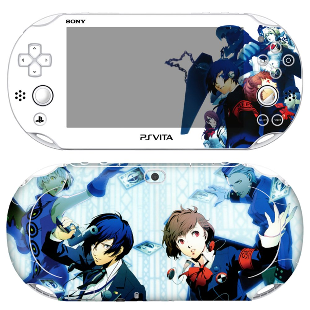 Premium Skin Decals Stickers For PlayStation VITA Slim 2nd Generation PCH-2000 Series Consoles Korea Made - POP SKIN Persona #07 + Free Gift Screen Protector Film + Wallpaper Screen Image
