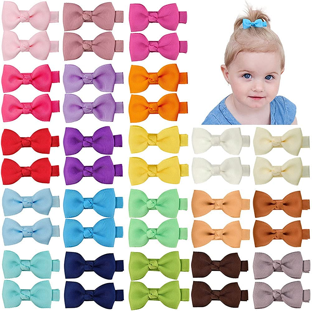 Handmade baby and toddler hair bow clips bow clips for her ribbon bow clips hair bow clips for babie hair bow clips for toddlers