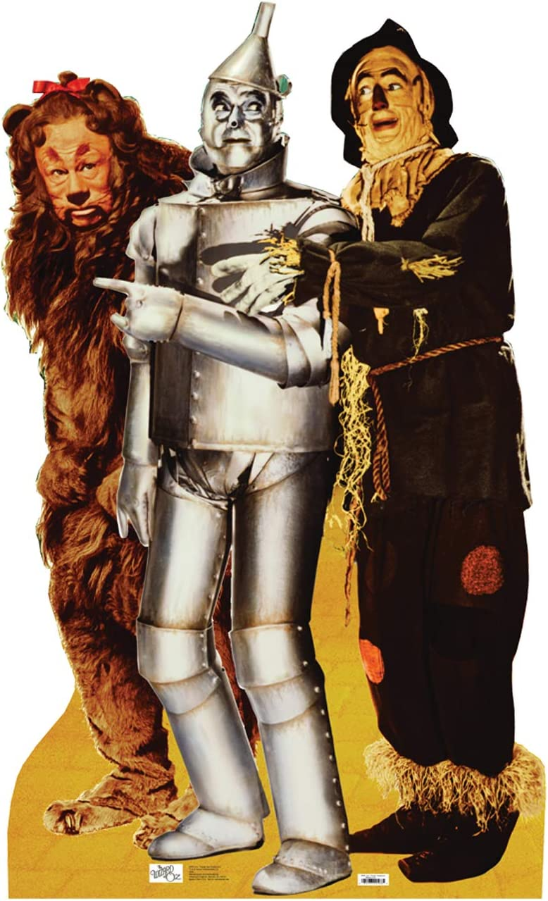 Advanced Graphics Lion, Tinman & Scarecrow Life Size Cardboard Cutout Standup - The Wizard of Oz 75th Anniversary (1939 Film)