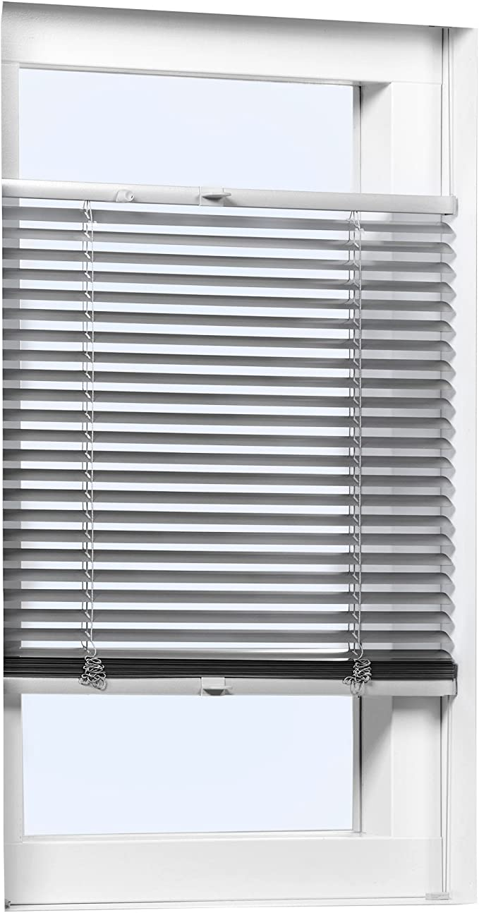 Victoria M. Persiana de Aluminio Vario, Klemmfix (sin taladrar), 65 x 130cm, Plata: Amazon.es: Hogar