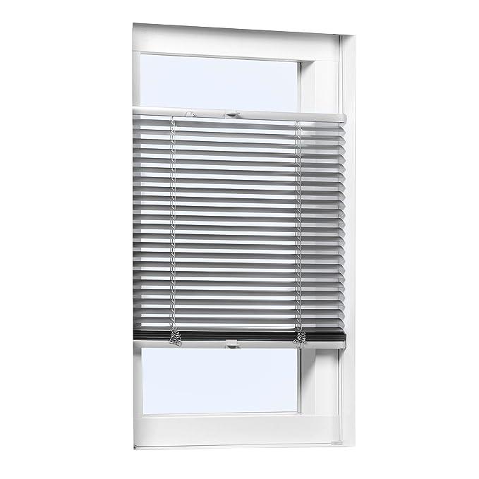 Klemmfix Alu Jalousie ohne Bohren Aluminium Fenster Klemm Rollo Plissee Silber