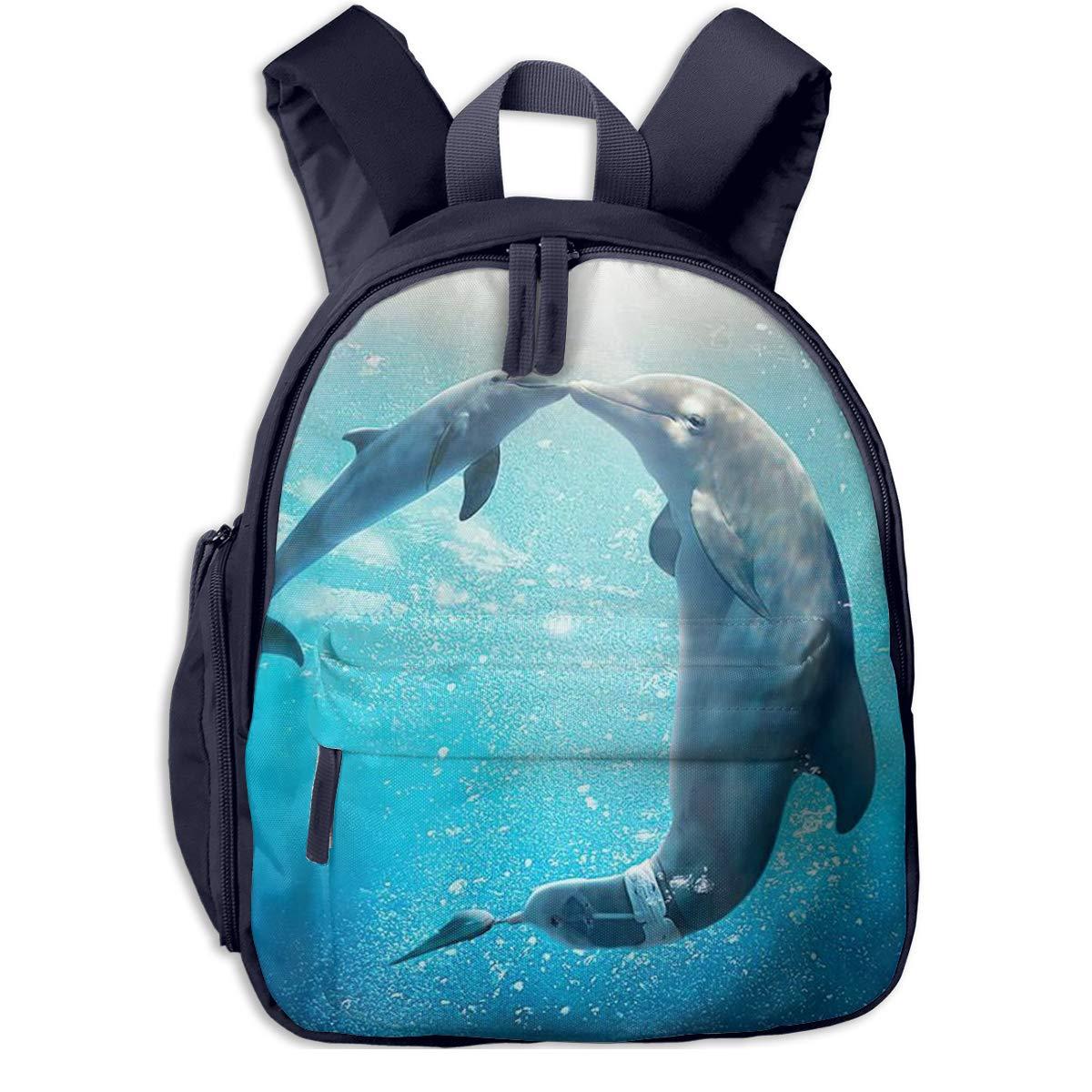 7e2d8982e861 Amazon.com: Flayewish School Backpack for Student, Cute Kiss Dolphin ...