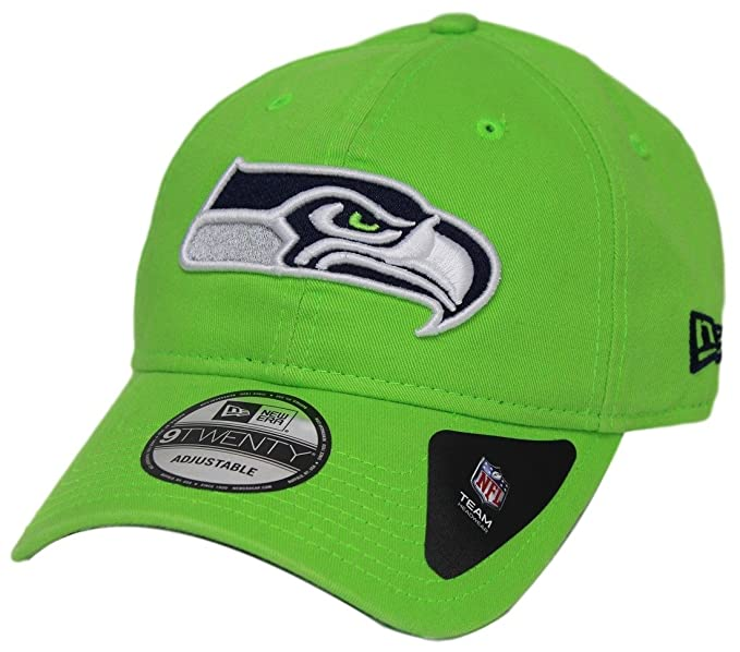 34c3d641 New Era Mens Seattle Seahawks Core Classic 9TWENTY Adjustable Hat, Lime  Green, OS