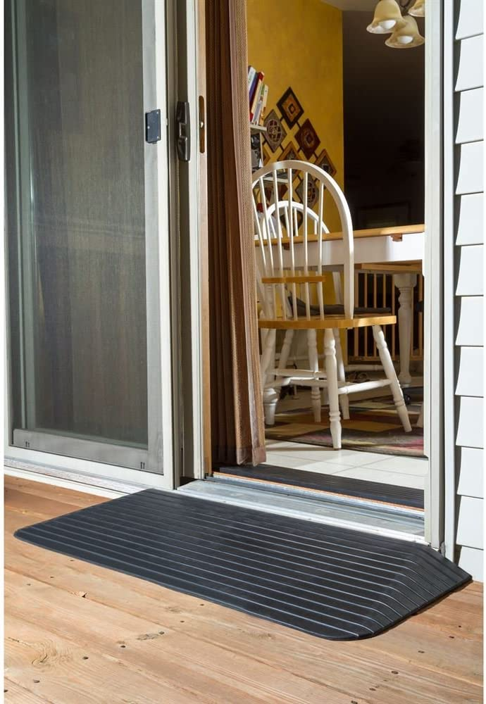 Silver Spring Solid Rubber Threshold Ramp 2 1 2 Rise Health Personal Care