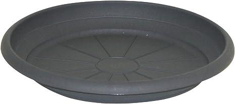 A Large 45 cm diameter black plastic saucer for plant pots or similar