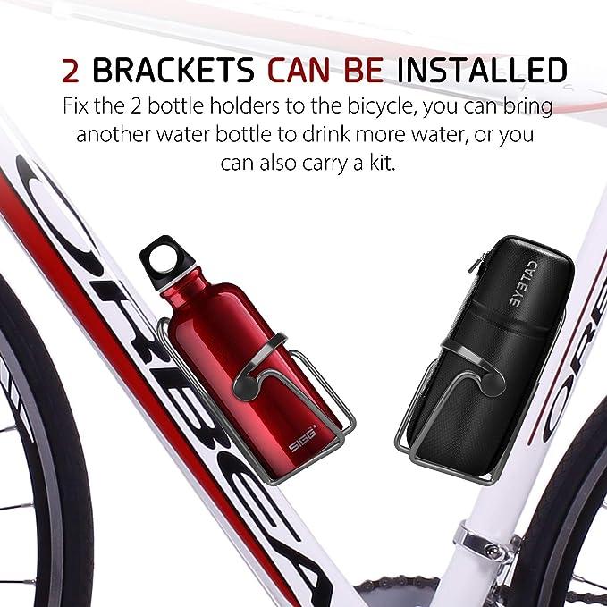 Portabidón para Bicicleta, Portabidones para Bicicleta, Portabotellas de Bici, Aleación de Aluminio Portabidón de Ciclismo para Bicicleta de Montaña y ...