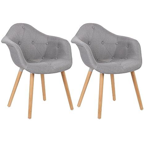Woltu 2X Sillas de Comedor Juego de 2 Muebles Cocina Diseño con ...