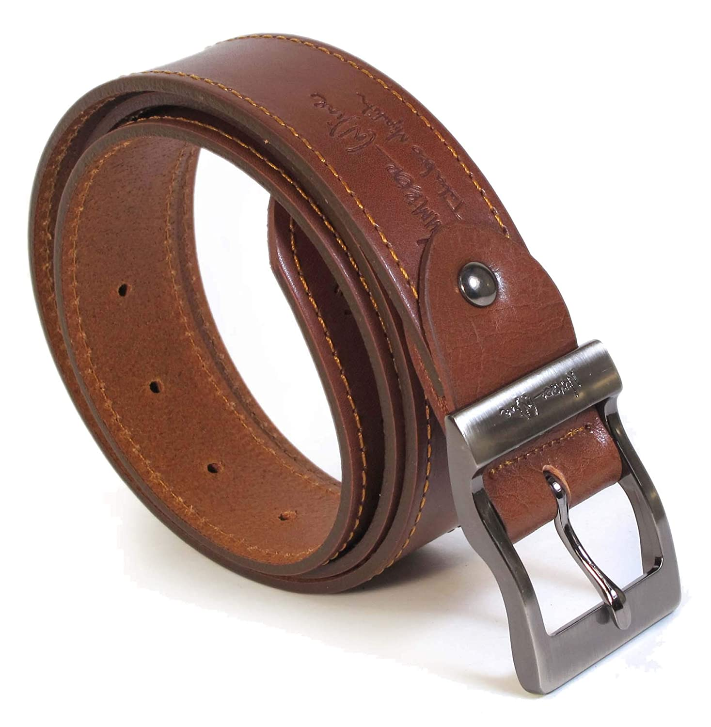 Mens Real Genuine Leather Belt Black Brown White 1.5 Wide S-XL Casual Jeans CU9