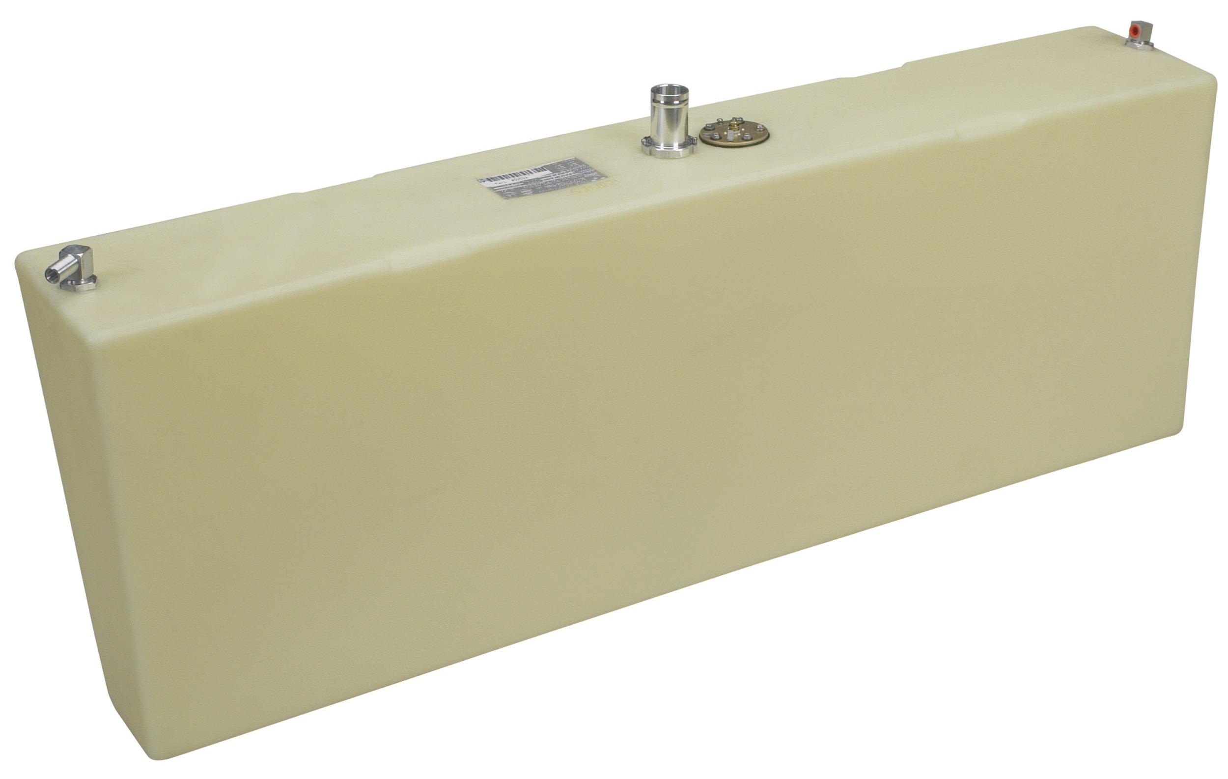Moeller Marine Below Deck Permanent Fuel Tank with Port Side Withdraw (24-Gallon, 51'' x 8.75'' x 5.25'' x 17.88'')