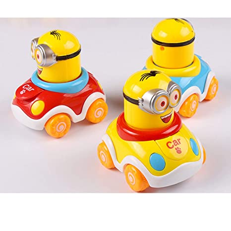 Grab Offers Early Education Adorable Cute Bright Color Moving Parts Mini Vehicle 1 Year Old Baby