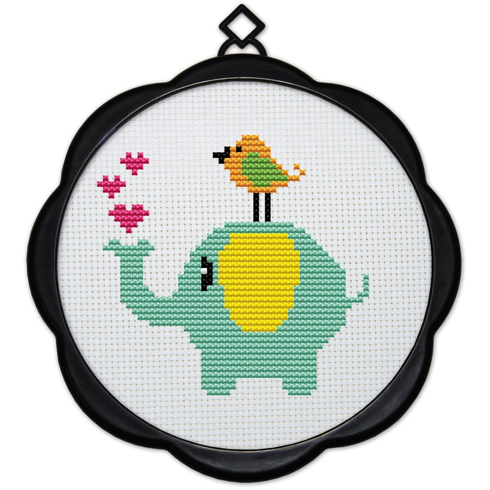 Birds and Elephants Full Range of Embroidery Starter Kits Stamped Cross Stitch Kits Beginners for DIY Embroidery Multiple Pattern Designs