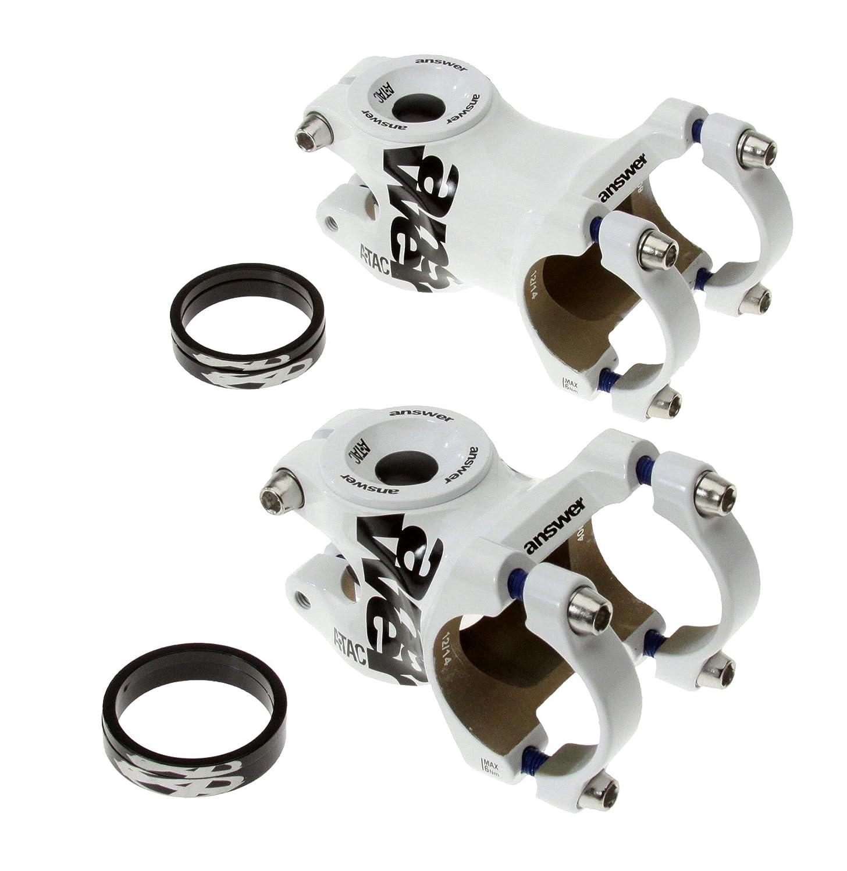 Answer ATAC AMEバイク自転車ハンドルバーステム0 °、31.8 MM x 28.6 MMホワイト B078344M6T Stem Length: 50mm