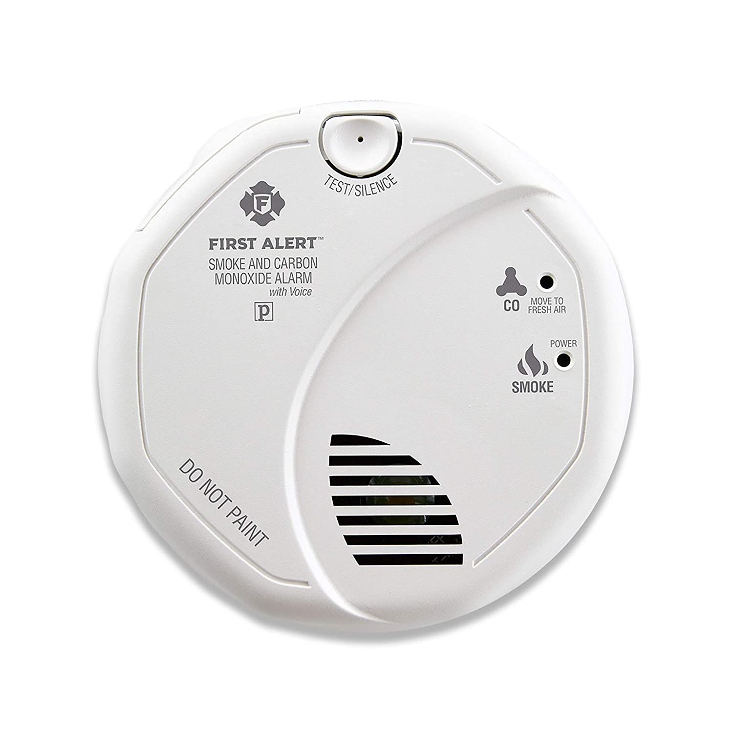 First Alert BRK SC7010BV Hardwired Talking Photoelectric Smoke and Carbon Monoxide CO Detector