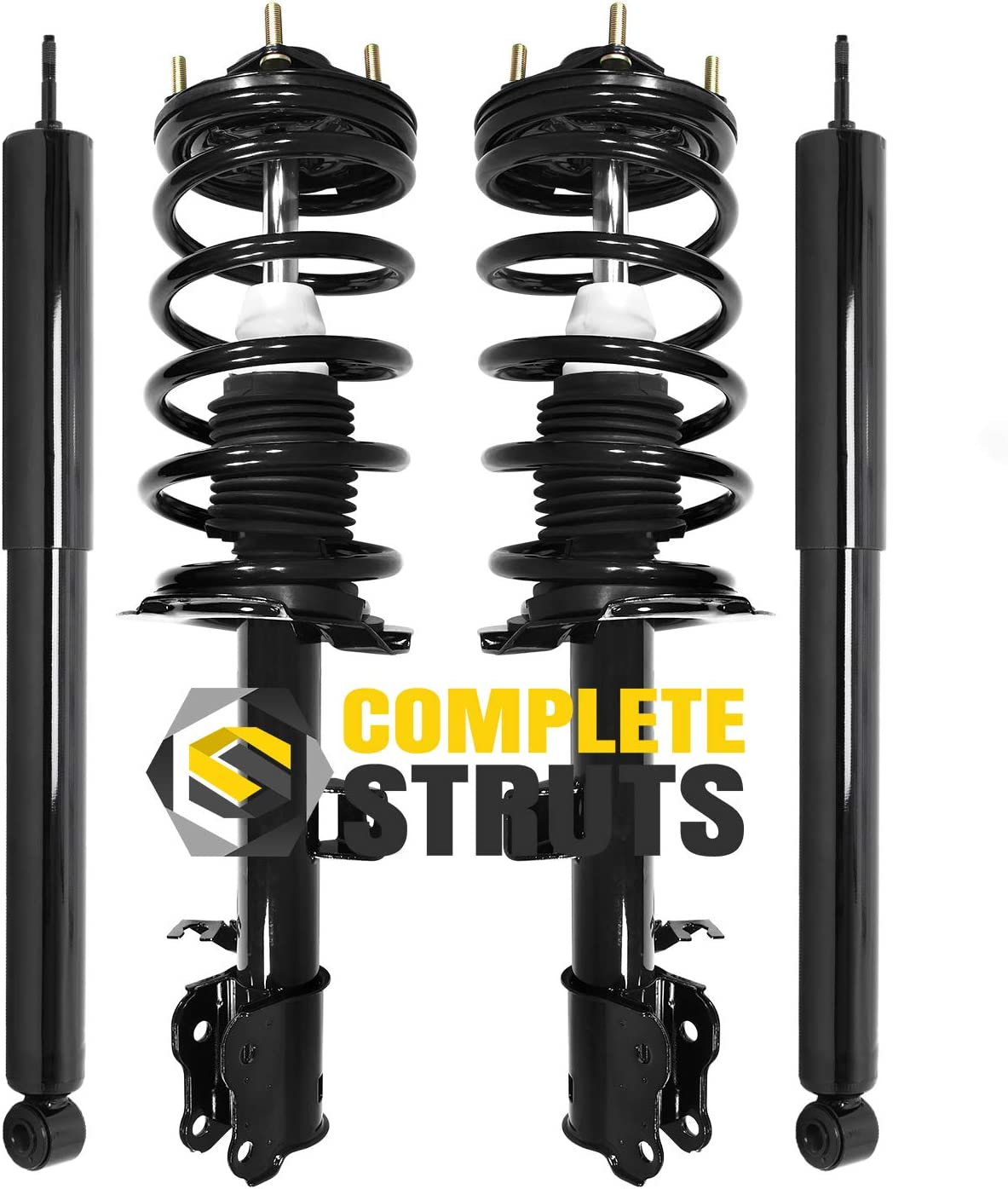 Front Quick Complete Strut Assemblies /& Rear Bare Shock Absorbers Compatible with 2001-2007 Ford Escape Set of 4