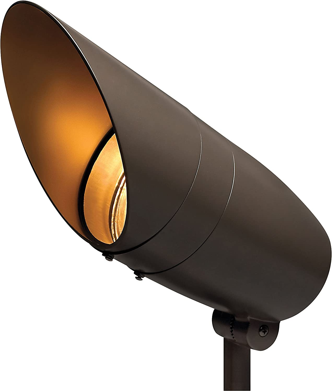 Hinkley Landscape Lighting Line Voltage Spot Light - Spotlight Important Landscape Features and Increase Home Security, 175 Watt Maximum Spot Light, Bronze Finish, 55000BZ