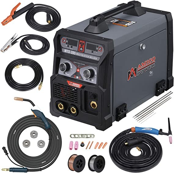 205 Amp MIG/TIG-Torch/Stick Arc Combo Welder