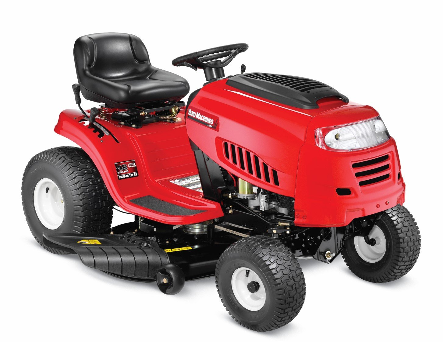 Amazon.com : Yard Machines 420cc 42-Inch Riding Lawn Tractor : Garden &  Outdoor