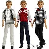 Miunana 3 Vêtements Pour Poupée Ken - Fiancé de Barbie