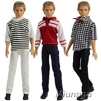 3022b0103cf722 Miunana 3 Kleider Set Shirt Tops und Hosen Kleid Kleidung für Barbie Puppen  Fashionistas KEN Geschenk