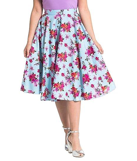 Hell Bunny Alyssa Floral 50s Rockabilly Falda Circular: Amazon.es ...