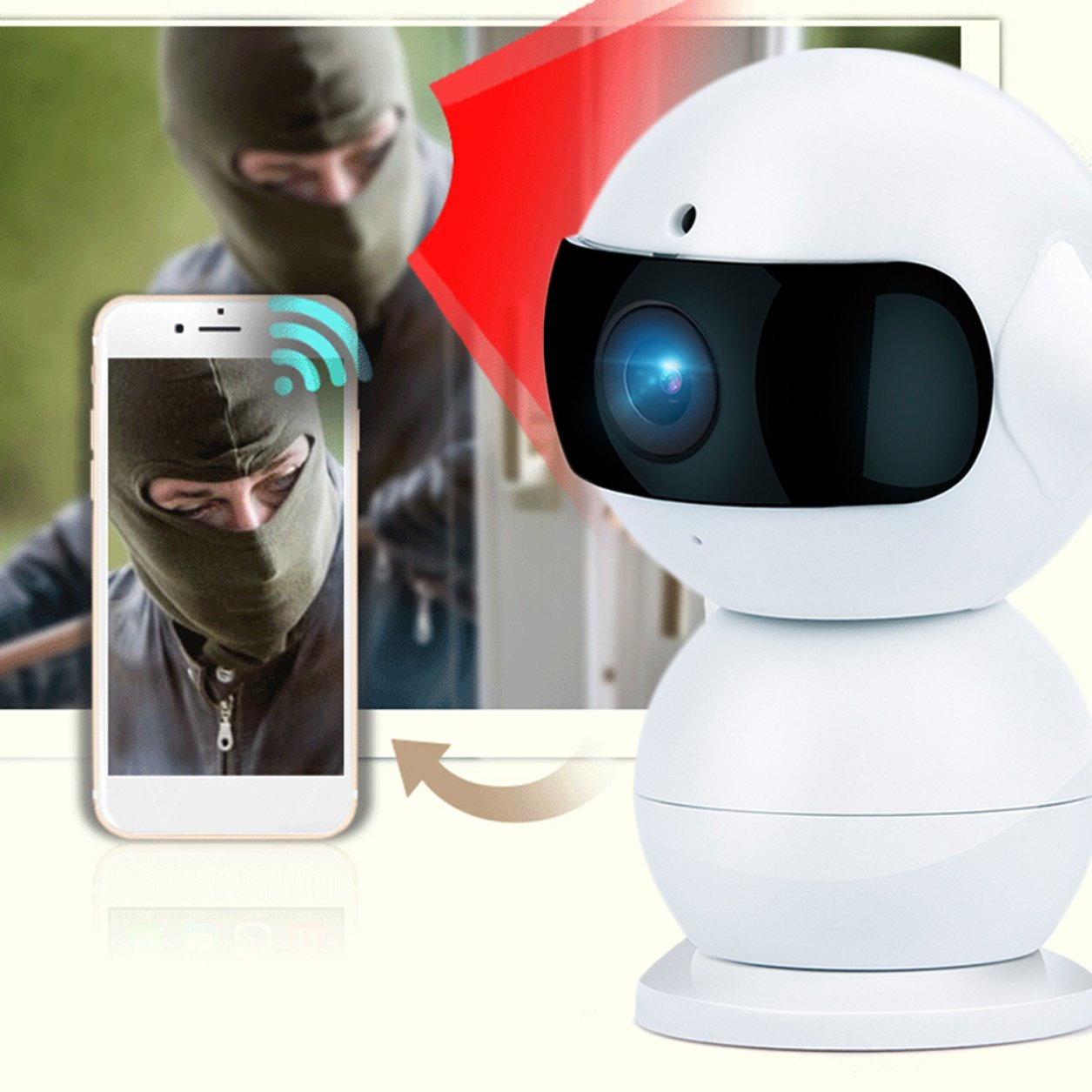 Neue A6 Multi Use HD WIFI IP Smart Camera CARcorder Home Security-Produkt (Farbe  weiß)