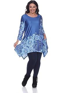 706e065456a White Mark Women's Plus Size Yanette Paisley Floral Tunic Top at ...