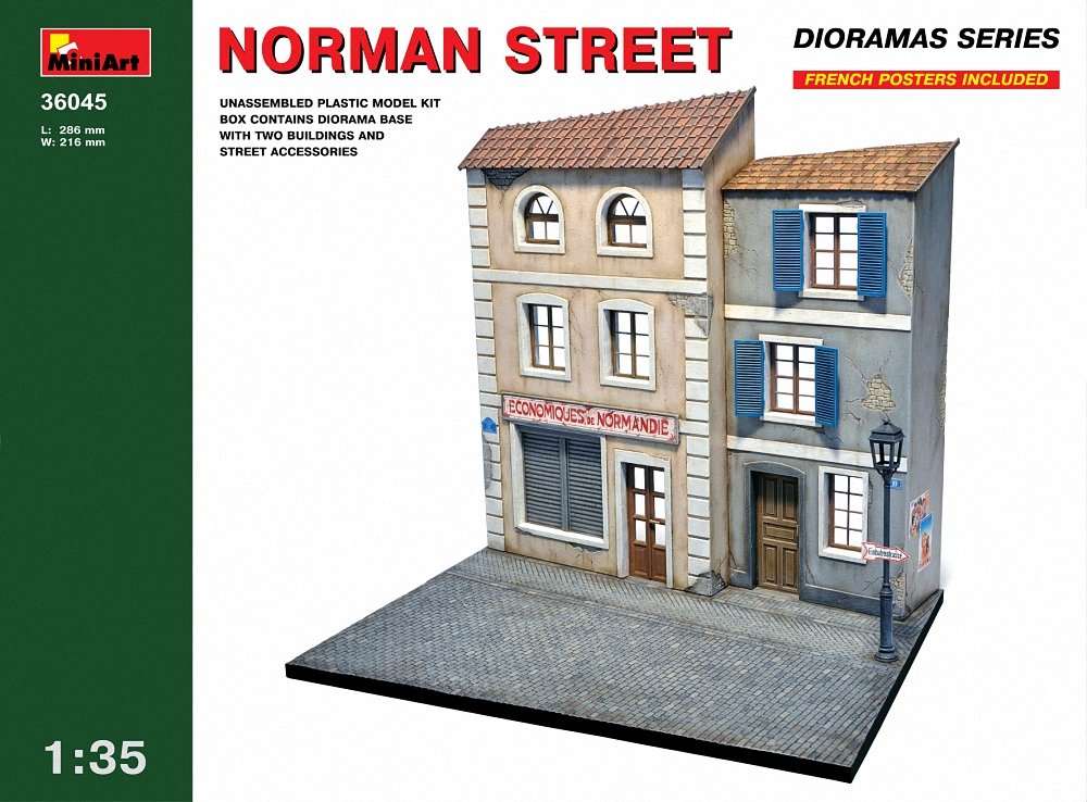 Miniart 1:35 Scale ''norman Street'' Plastic Model Kit by MiniArt (Image #1)