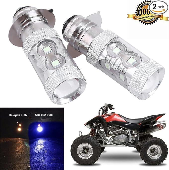 2PCS 100W 8000K LED Headlight For Suzuki Quadsport Z400 2003 04 05 06 07 2008