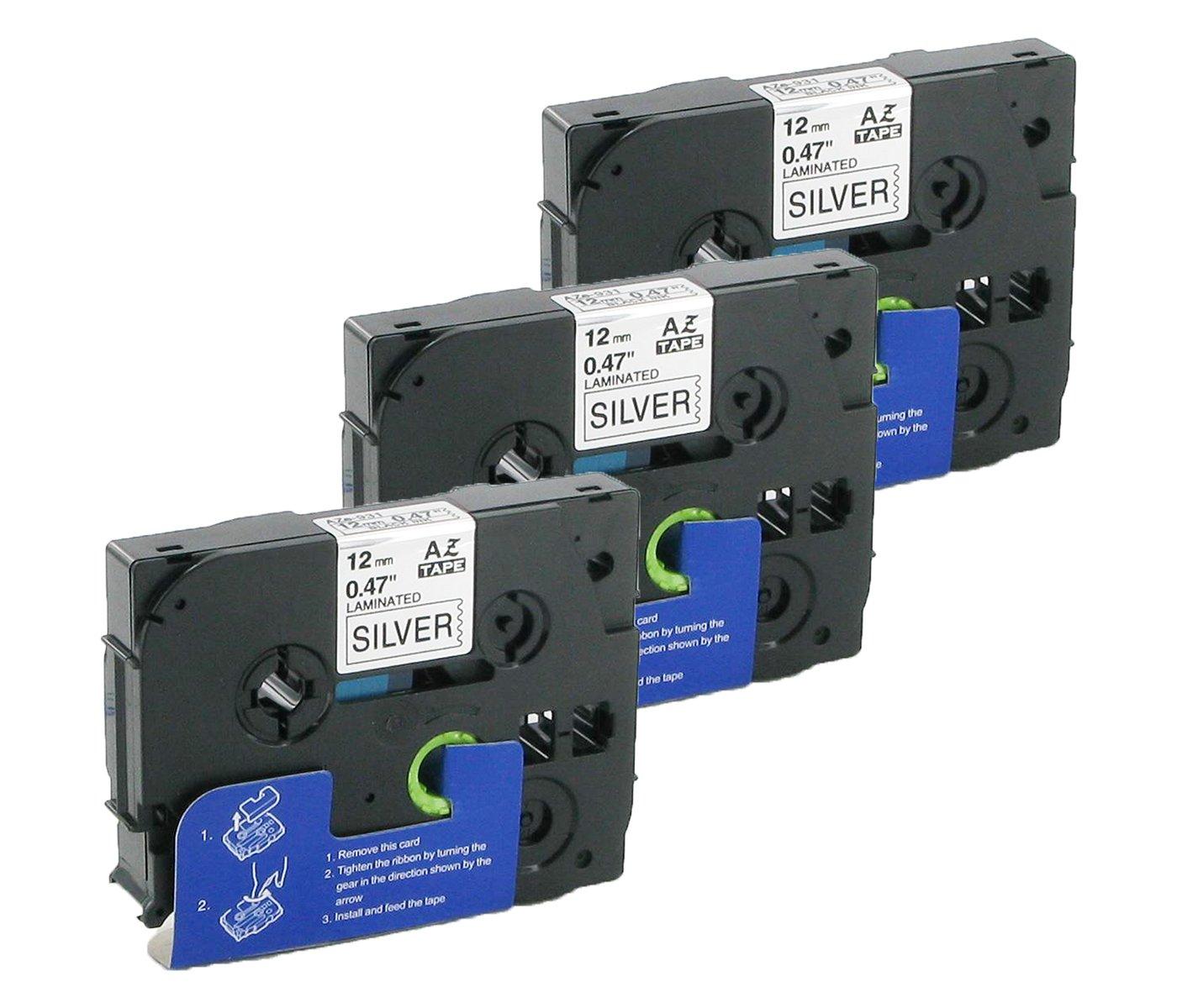Bubprint 3 Schriftb/änder kompatibel f/ür Brother TZE-931 TZ 931 f/ür P-Touch 1280 2430PC 2730VP 3600 9500PC 9700PC D400VP D600VP H100LB H105 P700 P750W