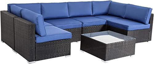 Peach-Tree-Outdoor-Furniture-All-Weather-Sectional-Wicker-Sofa-Set-7-PCs-Patio-Rattan-Clearance-with-Washable-Cushions-and-Coffee-Table