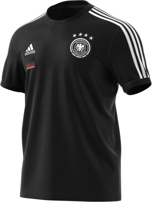 Black Unisex XXL adidas Alemania Temporada 2020//21 Camiseta 3 Bandas