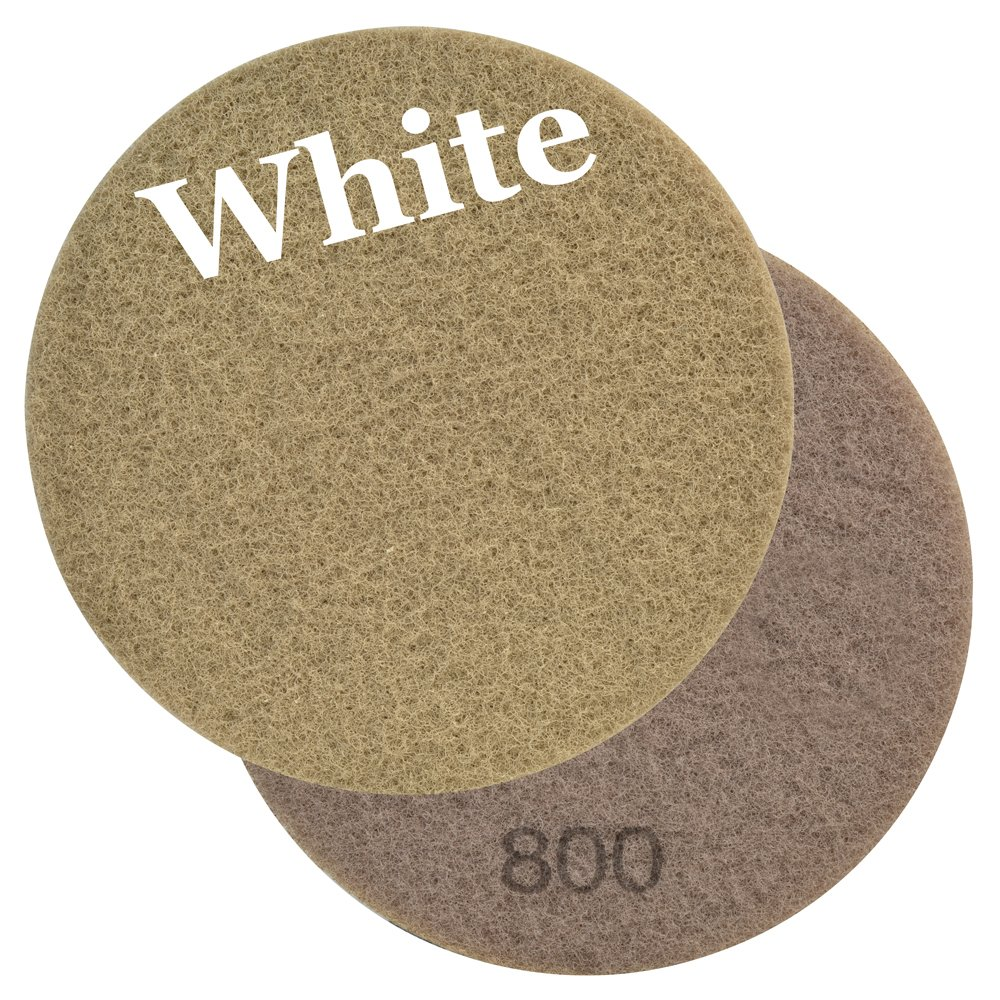 Viper 60642 Diamone Impregnated White 800 Grit Floor Maintenance Pad for Step 1 Deep Cleaning (2 Pack), 17-Inch by Viper