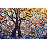 New arrival DIY Oil Painting by Numbers Kit Theme PBN Kit for Adults Girls Kids White Christmas Decor Decorations Gifts - Glare Tree (Without Frame)