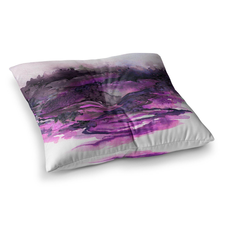 23 x 23 Square Floor Pillow Kess InHouse EBI Emporium The Long Road 5 Purple Lavender Watercolor