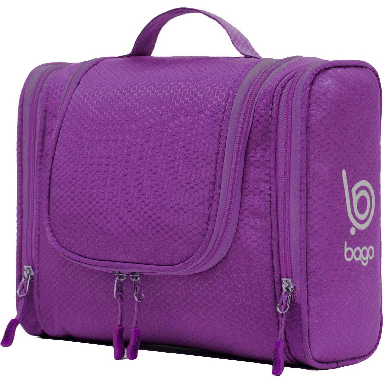 Bago Hanging Toiletry Bag For Women /& Men Pink Travel Bags for Toiletries//Leak Proof//Hanging Hook//Inner Organization to Keep Items From Moving Pack Like a PRO