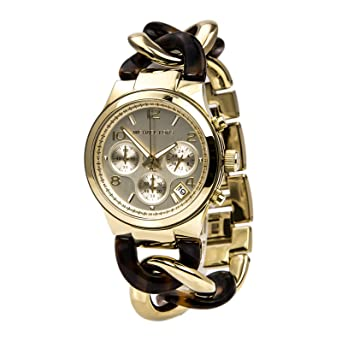 080e134dbbd7 Image Unavailable. Image not available for. Color  Michael Kors Chain Link  Acrylic Gold-tone Ladies Watch MK4222
