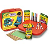 Crayola Create 'N Carry Art Kit Art Gift 2-in-1 Portable Lap Desk & Carry-Case for Child Artists On-The-Go,75Piece…